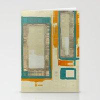 Mid Century Modern Abstr… Stationery Cards