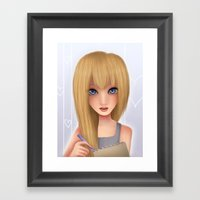 Namine.  Framed Art Print