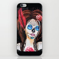 1920's Flapper Sugar skull, Dia de los muertos iPhone & iPod Skin