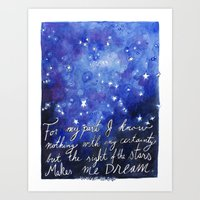 The Sight of the Stars Art Print