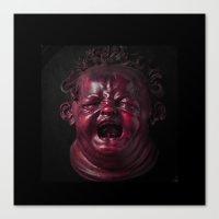 Screaming Kid Canvas Print