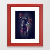 DARK BOXING Framed Art Print