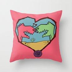 DINO LOVE  Throw Pillow