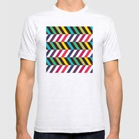 Colorful Zigzag Mens Fitted Tee Ash Grey SMALL
