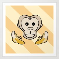 monkey Art Prints featuring Monkey by Nir P