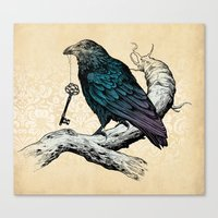 Raven's Key Canvas Print