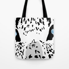 The blues; leopard. Tote Bag