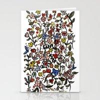 flower-scatter Stationery Cards