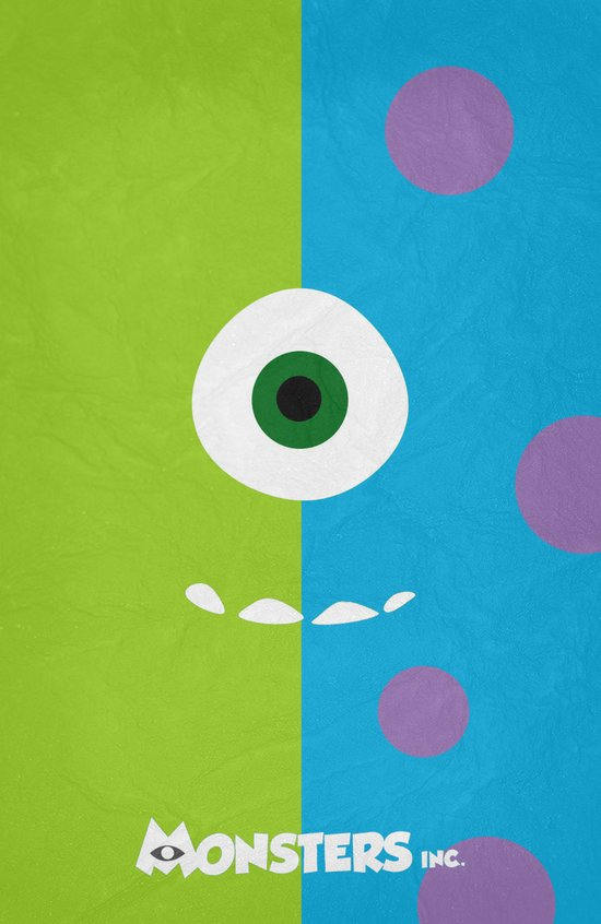 Monsters - Minimalist Poster 02 Art Print