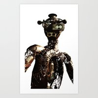 robot Art Prints featuring robot by Кaterina Кalinich