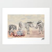 Michael's First Christmas, Nativity Art Print