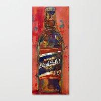 Black Label Bottle Beer Canvas Print