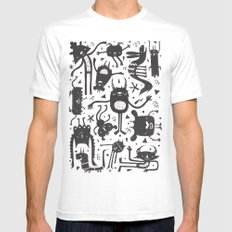 Topsy Turvy - Dark Mens Fitted Tee White SMALL