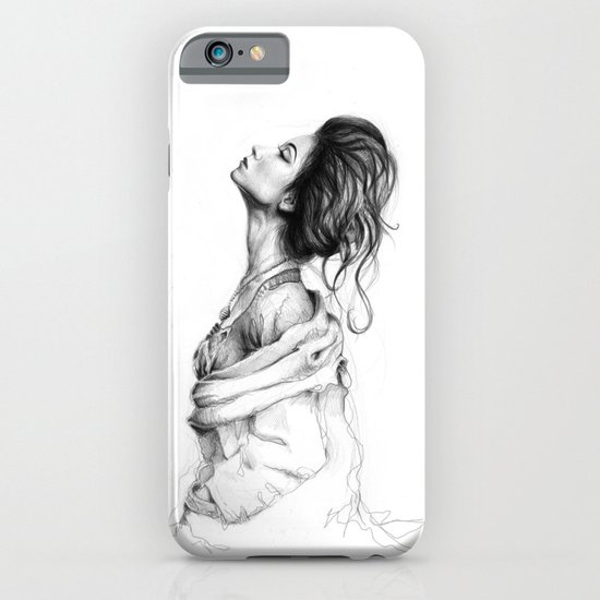 Pretty Lady Illustration iPhone & iPod Case