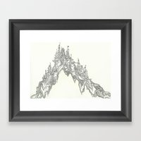 Hill People Framed Art Print