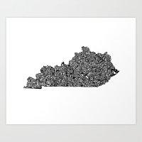 Typographic Kentucky Art Print