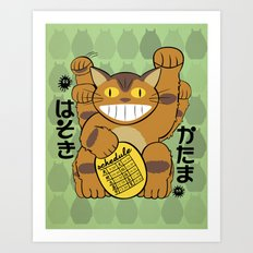 Lucky Catbus Cat Art Print