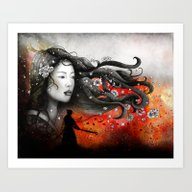 Art Print featuring Heart And Heart. No Dist… by Marine Loup