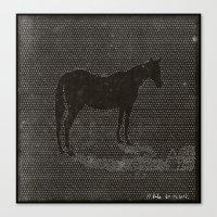Black Dot Horse Canvas Print