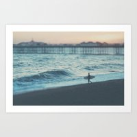 The Lone Surfer ...  Art Print