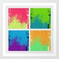 Boxes 1-4 Art Print