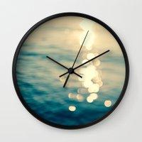Blurred Tides Wall Clock