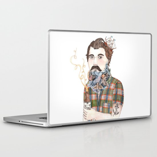 Flock of Beards Laptop & iPad Skin
