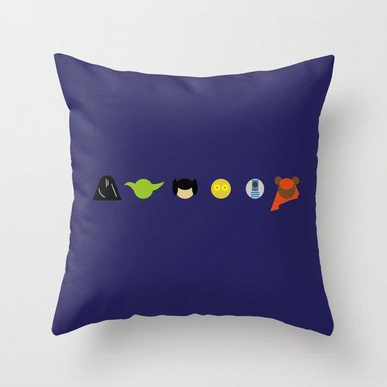Star Battle Throw Pillow
