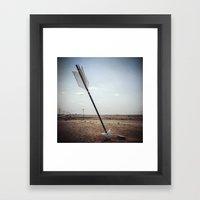 Stick 'em With The Point… Framed Art Print