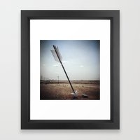 Stick 'em With the Pointy End Framed Art Print