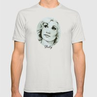 Dolly Parton Mens Fitted Tee Silver SMALL