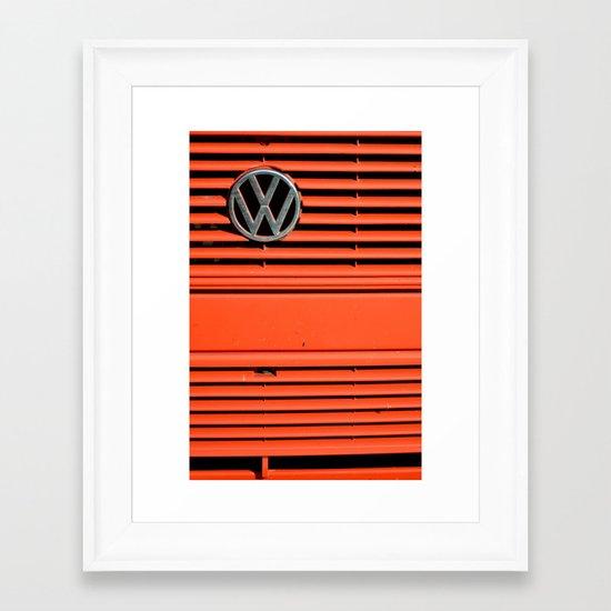 Red Volkswagen Framed Art Print