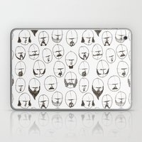 Moustaches and Beards Laptop & iPad Skin