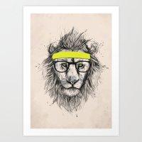 Hipster Lion (light Vers… Art Print