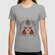 Fox Archway Womens Fitted Tee Athletic Grey SMALL
