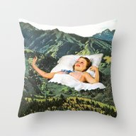 Rising Mountain Throw Pillow
