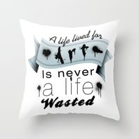 A life lived for art. Throw Pillow