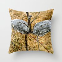 Milk Weed Pods Throw Pillow