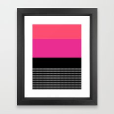 Pink and Coral Framed Art Print