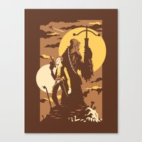 The Scoundrel & The Wookie Canvas Print
