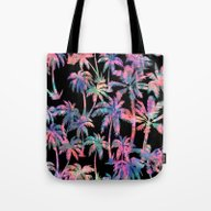 Maui Palm {Black} Tote Bag