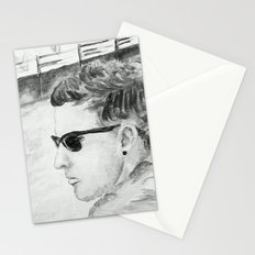 B/W I am not famous Stationery Cards