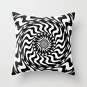 Black and White 4 Throw Pillow