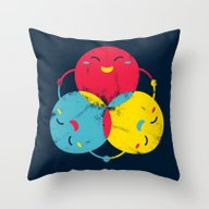 Throw Pillow featuring Happy Together by Steven Toang