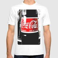 Coca-Cola Nostalgia Mens Fitted Tee White SMALL
