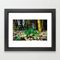 Nasturtiums & Bamboo Framed Art Print