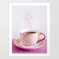 Love My Coffee Art Print