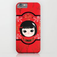 iPhone & iPod Case featuring The Lunar New Year-Little girl by Caracheng