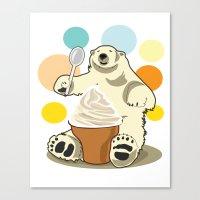 Polar Bear's Summer Time Canvas Print