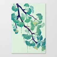 O Ginkgo (in Green) Canvas Print